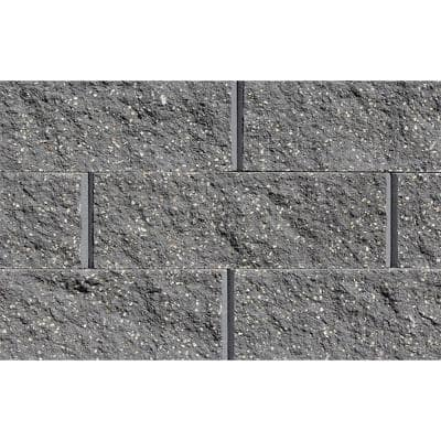 Mini 3 in. H x 8 in. W x 9 in D Charcoal Concrete Wall Cap (104 Pieces/69 Linear ft. /Pallet)