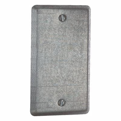 1-Gang 4 in. Blank Utility Box Cover (Case of 25)