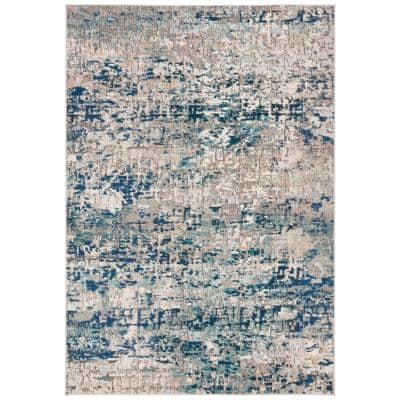 Madison Gray/Blue 4 ft. x 6 ft. Area Rug