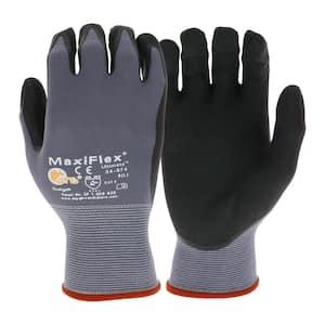 MaxiFlex Men's Large Nitrile Ultimate Gloves in Gray