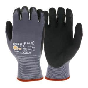 MaxiFlex Men's Extra Large Ultimate Nitrile Gloves in Gray