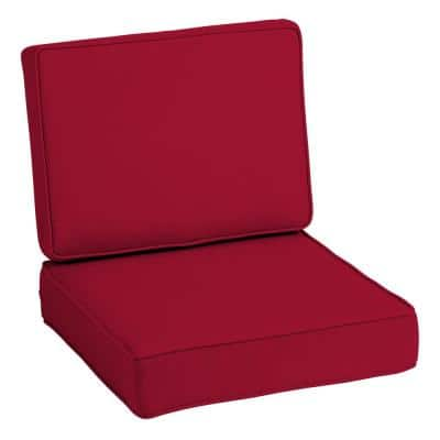 ProFoam 24 in. x 24 in. Caliente Acrylic 2-Piece Deep Seating Outdoor Lounge Chair Cushion