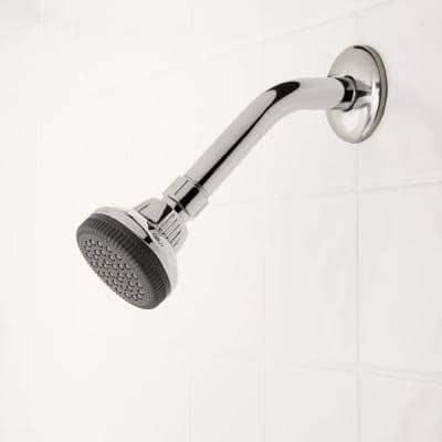 1-Spray 1.4 in. Single Wall Mount Fixed Shower Head in Chrome