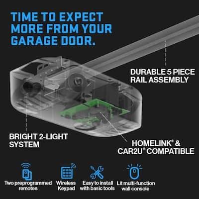 Chain Drive 550 1/2 HPc Durable Chain Garage Door Opener with Wireless Keypad