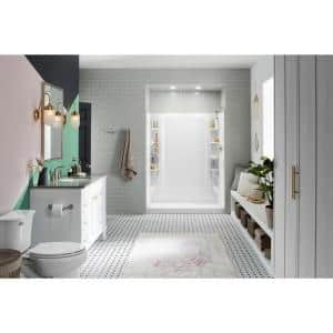 STORE+ 30 in. x 60 in. Single Threshold Right-Hand Shower Base with Shower Walls and 12-Piece Accessory Kit in White