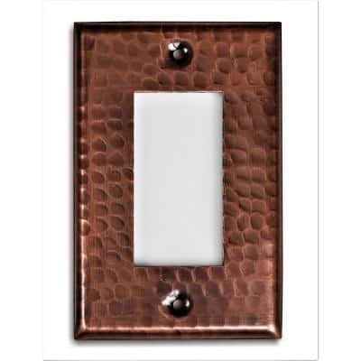 Pure Hand Hammered Single Rocker Wall Plate, Copper