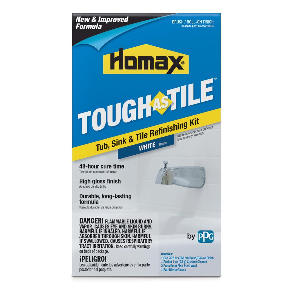 26 oz. White Tough as Tile Brush on Tub, Sink, and Tile Refinishing Kit