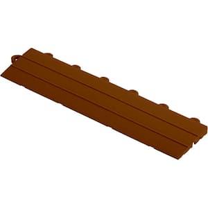 2.75 in. x 12 in. Chocolate Brown Looped Polypropylene Ramp Edging for Diamondtrax Home Modular Flooring (10-Pack)