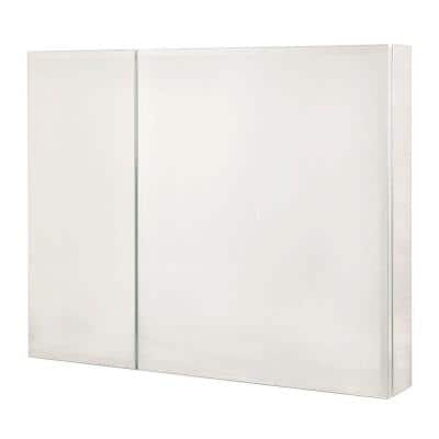 30 in. W x 26 in. H Recessed or Surface-Mount Bi-View Bathroom Medicine Cabinet with Beveled Mirror Door