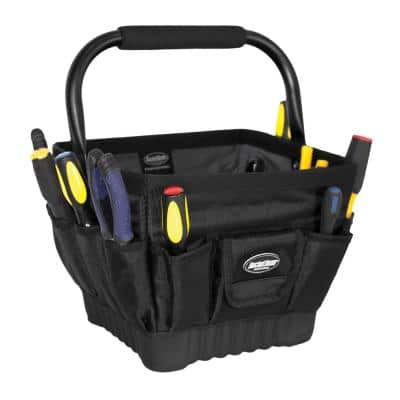 Pro Box 11 in. Open Top Tool Tote Storage Bag with 19 Pockets