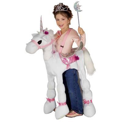 1-Size Girls Ride a Unicorn Kids Halloween Costume