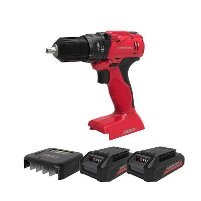 20-Volt Cordless Brushless 3/8 in. Drill/Driver with Two 1.5 Ah Batteries, Charger and Bag Included