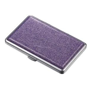 Glamour II Purple Glitter Double Sided Cigarette Case