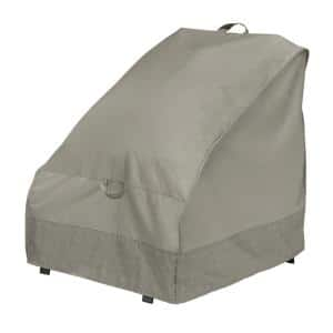 30 in. Outdoor Chair Cover with Integrated Duck Dome in Moon Rock