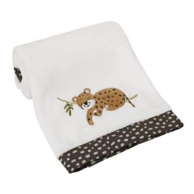 Jungle Gym Super Soft Baby Blanket with Cheetah Applique (Polyester)