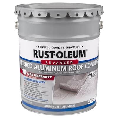 4.75 Gal. 10-Year Fibered Aluminum Reflective Roof Coating