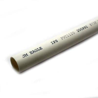 3/4 in. x 10 ft. PVC Class 200 Plain-End Pipe