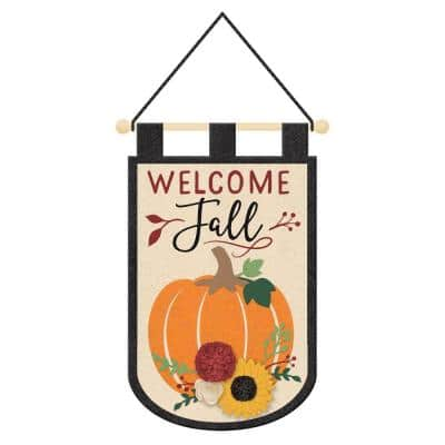 18 in. Fall Harvest 3D Banner (2-Pack)
