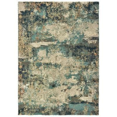 Braxton Multi 2 ft. x 3 ft. Abstract Area Rug