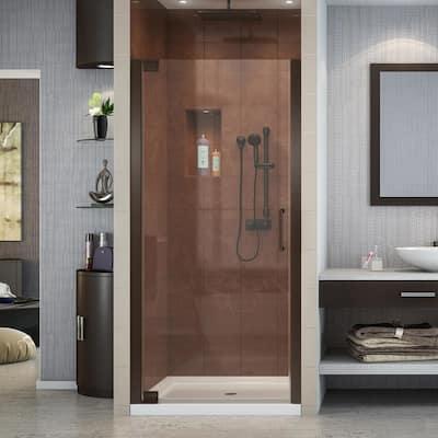 Elegance 34 in. to 36 in. x 72 in. Semi-Frameless Pivot Shower Door in Oil Rubbed Bronze