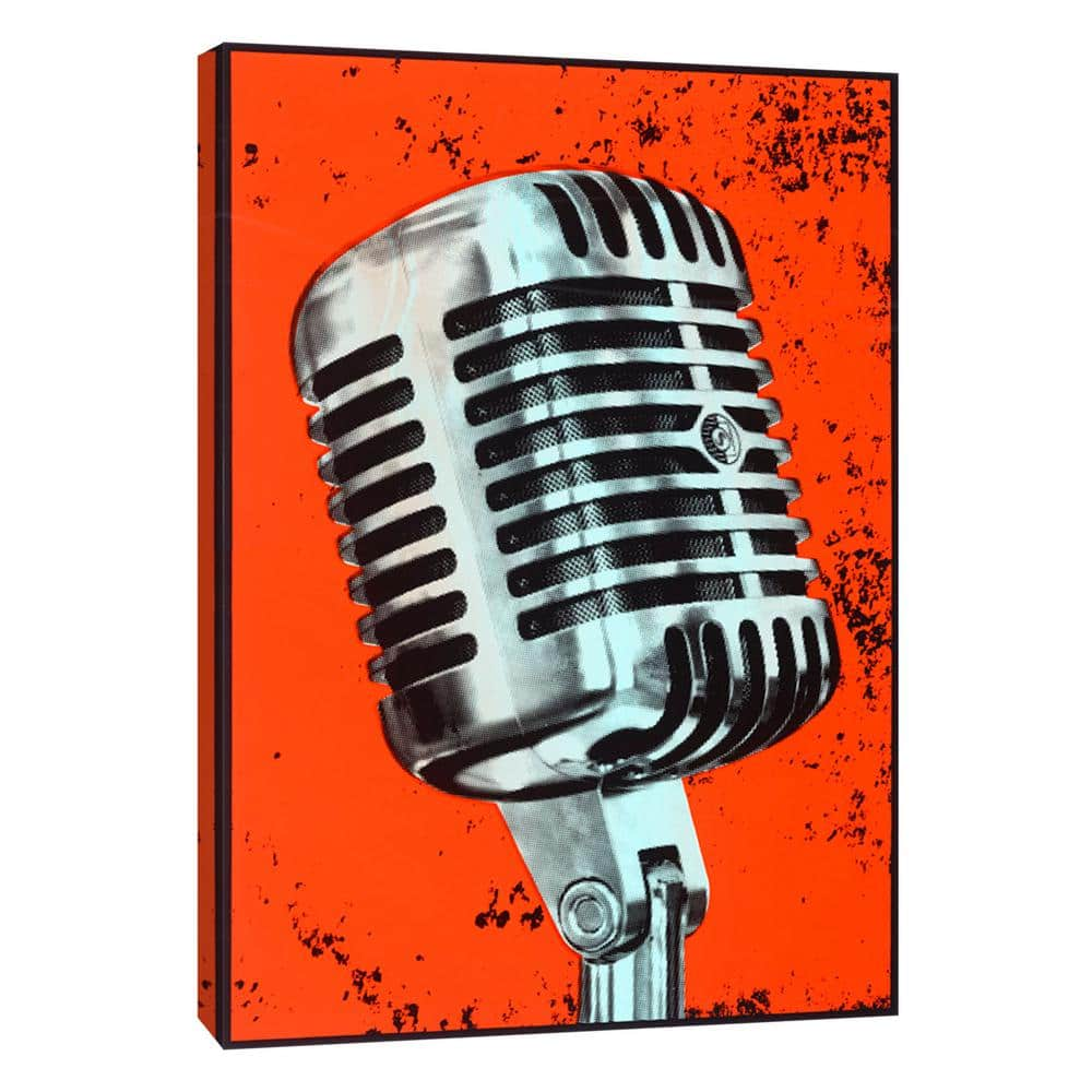 Ptm Images 12 In X 10 In Microphone Printed Canvas Wall Art 9 106572 The Home Depot