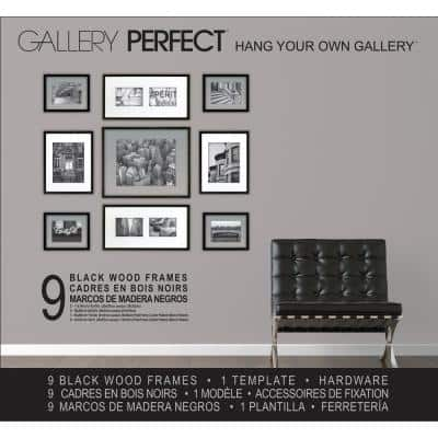 9-Opening 5 in. x 7 in. Matted Picture Frame