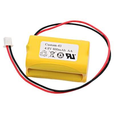 Dantona 4.8-Volt 800 mAh Ni-Cd battery for Simkar - 6600012 Emergency Lighting