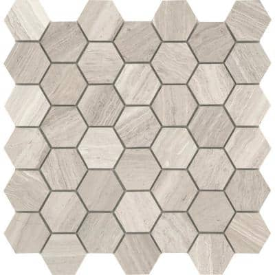 Marble Cream Honed 11.73 in. x 12.01 in. x 10 mm Limestone Mesh-Mounted Mosaic Tile (0.98 sq. ft.)
