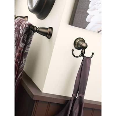 Banbury Double Robe Hook in Mediterranean Bronze