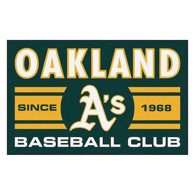 MLB Oakland Athletics Green 2 ft. x 3 ft. Area Rug
