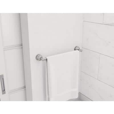 Allura 24 in. Wall-Mounted Towel Bar in Polished Chrome