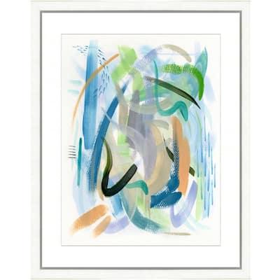 """Colorful brushstrokes II"" Framed Archival Paper Wall Art (24 in. x 28 in. in full size)"