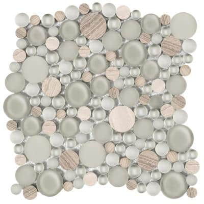 Lucente Certosa Gloss/Matte Mix 11.81 in. x 11.81 in. x 8mm Glass Mesh-Mounted Mosaic Tile (0.97 sq. ft.)