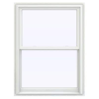 35.5 in. x 47.5 in. V-2500 Series White Vinyl Double Hung Window with BetterVue Mesh Screen