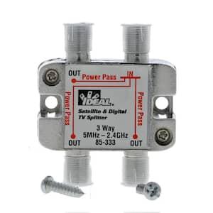 5 MHz - 2.4 GHz 3-Way Digital Splitter (Standard Package, 3 Splitters)