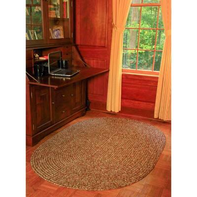 Newberry Denim Tweed 2 ft. x 3 ft. Oval Indoor/Outdoor Braided Area Rug