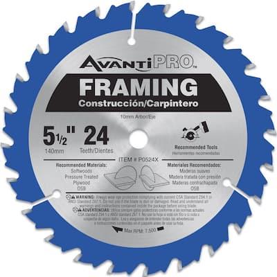 5-1/2 in. x 24-Teeth Framing Saw Blade