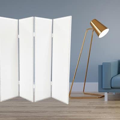 Mariana 7 ft. White 4-Panel Screen Divider