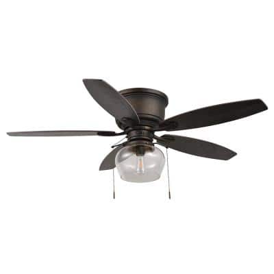 Stoneridge 52 in. LED Indoor/Outdoor Bronze Hugger Ceiling Fan with Light Kit
