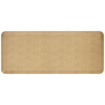 NewLife Designer Pebble Wheat 20 in. x 48 in. Anti-Fatigue Comfort Kitchen Mat
