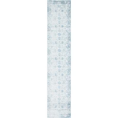 Sofia Casino Light Blue 3' 3 x 16' 5 Runner Rug