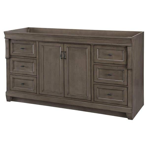 Home Decorators Collection Naples 60 In W Bath Vanity Cabinet Only In Distressed Grey For Single Bowl Nadga6022ds The Home Depot