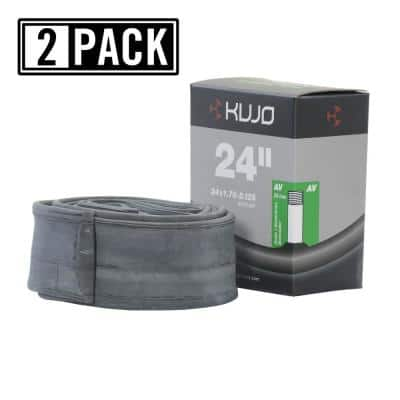 24 in. x 1.75 in./2.125 in. Schrader (American) 35 mm Bicycle Tube (2-Pack)