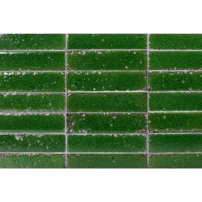 Magma Stone Green Brick 3 in. x 12 in. 19mm Glazed Subway Tile (4.11 sq. ft. / box, 17 pieces per set)