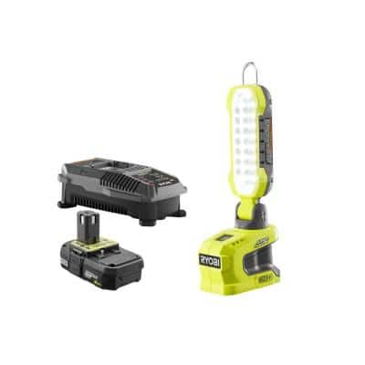 ONE+ 18V Lithium-Ion Hybrid LED Project Light with ONE+ 2.0 Ah Battery and 18V Charger