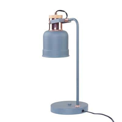 Yanna 19 in. Gray with Rose Gold Study Lamp