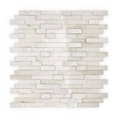 Take Home Sample - Himalayan White 4 in. x 4 in. Stone Self-Adhesive Wall Mosaic Tile (0.11 sq.ft/Each)