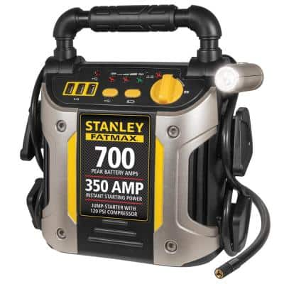 700 Peak Amp Portable Car Jump Starter with 120 PSI Air Compressor and USB Power