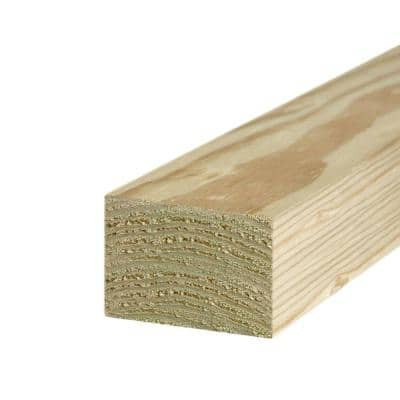4 in. x 6 in. x 8 ft. #2 Ground Contact Pressure-Treated Timber