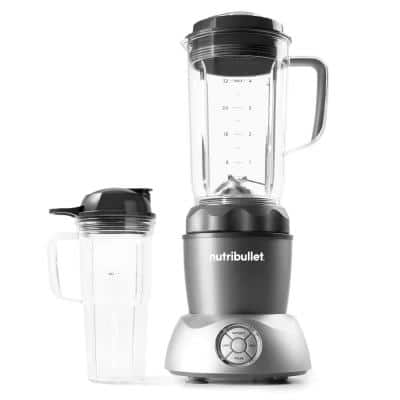 Select 32 oz. 2-Speed Gray Blender with Additional Pitcher and Lids